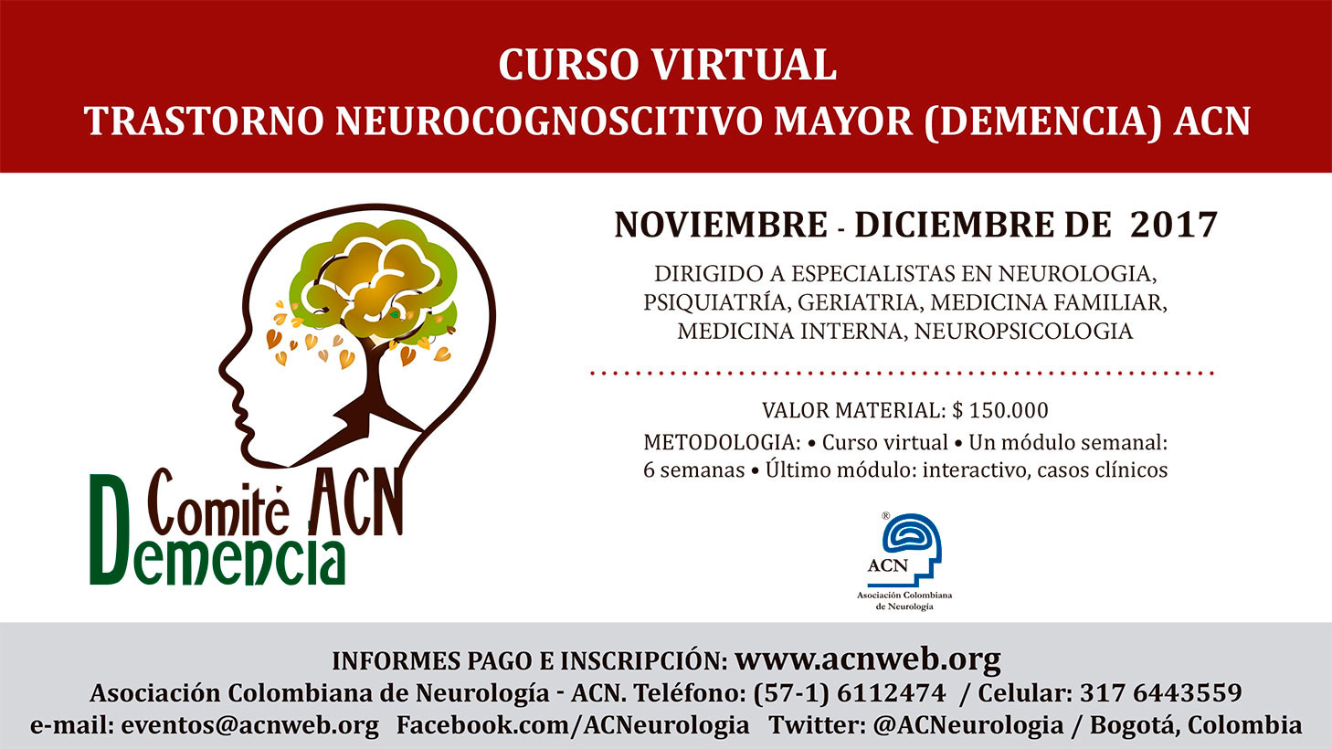 CURSO VIRTUAL TRASTORNO NEUROCOGNOSCITIVO MAYOR (DEMENCIA) ACN